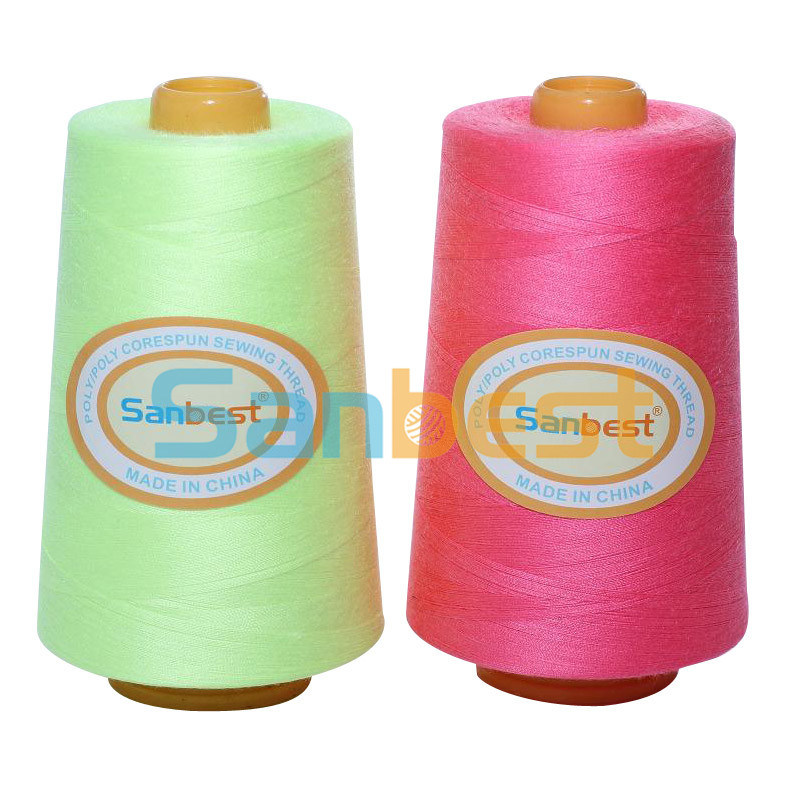 Poly/Poly Corespun Sewing Thread with Excellent Abrasion Resistance