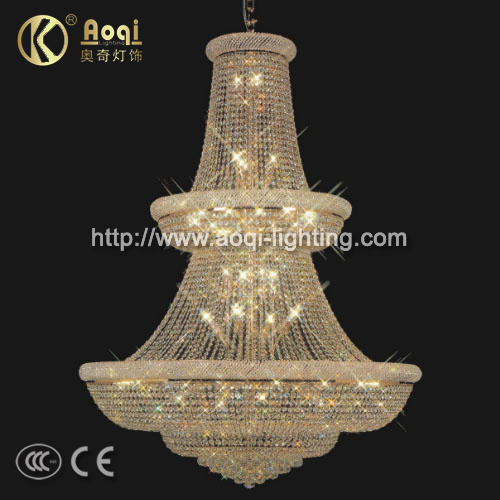 Luxury Golden K9 Crystal Pendant Light (AQ-7031)