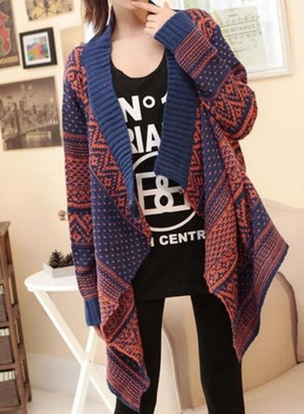 Folk Style Knit Jacquard Thickened Long Sleeve (BTQ029)