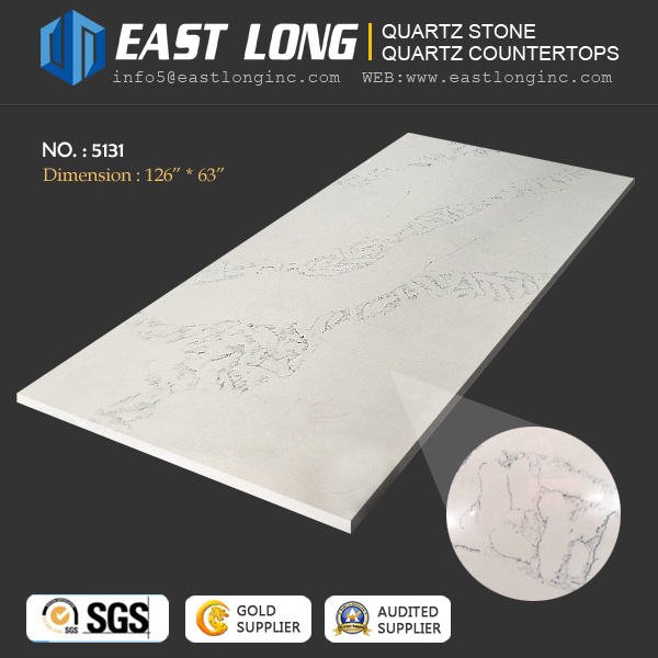 Cheap Carrara White Quartz Stone for Engineered/Kitchentop/Homedecoration with Building Material/Solid Surface