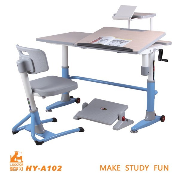 Adjustable Kids Desk and Chair 589 x 588