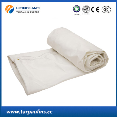 White Waterproof Durable Tarpaulin with Organic Silicon Coating