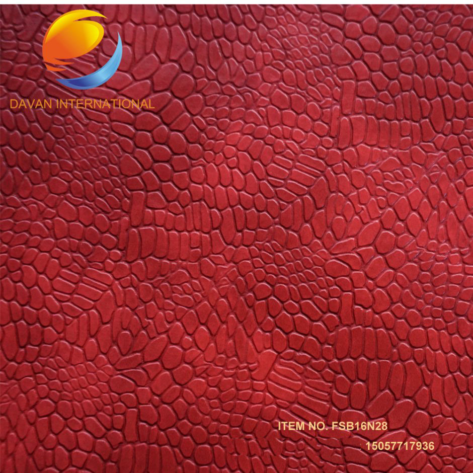 Artificial Leather 2017 New Emboss Design for Lady Shoes
