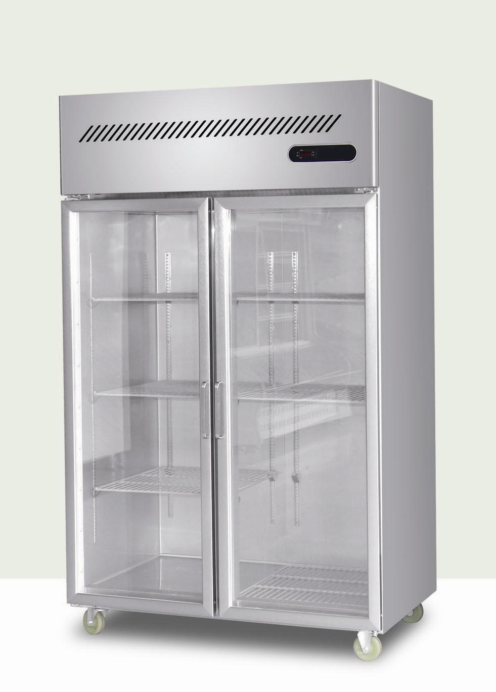 Glass door fridge kitchen - Restaurant Kitchen Refrigerator Stainless Steel Refrigerator Qingdao Reliance Refrigeration Equipment Throughout Decorating