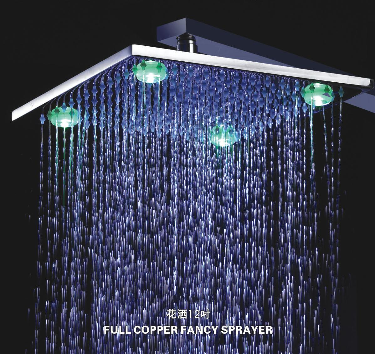 China Led Brass Shower Head L 4210 China Led Brass