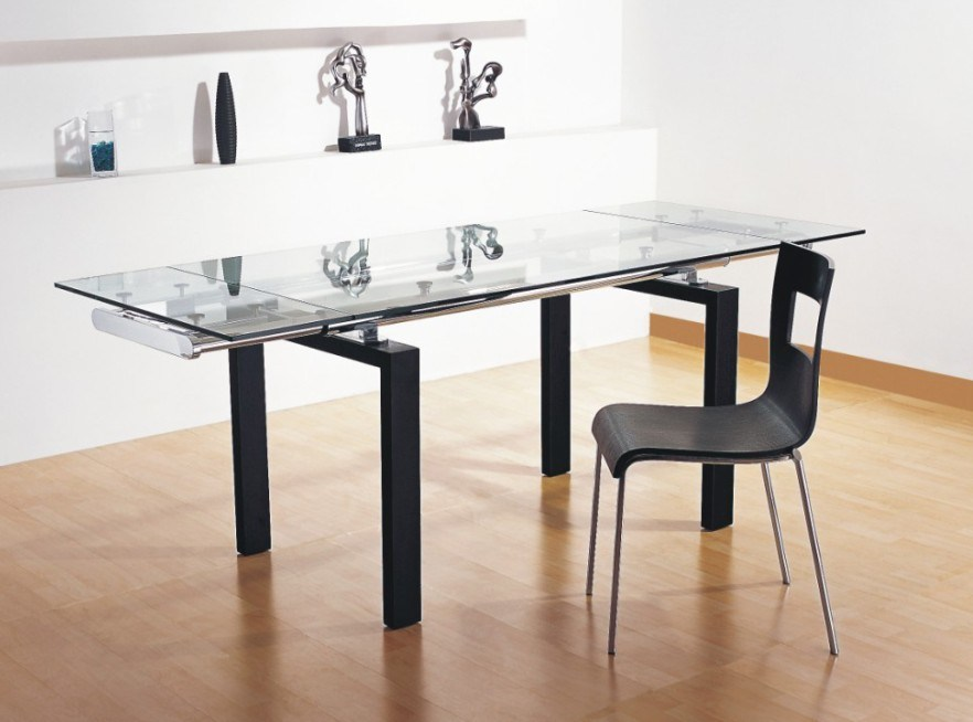 china glass extension table ls a047 china dining room