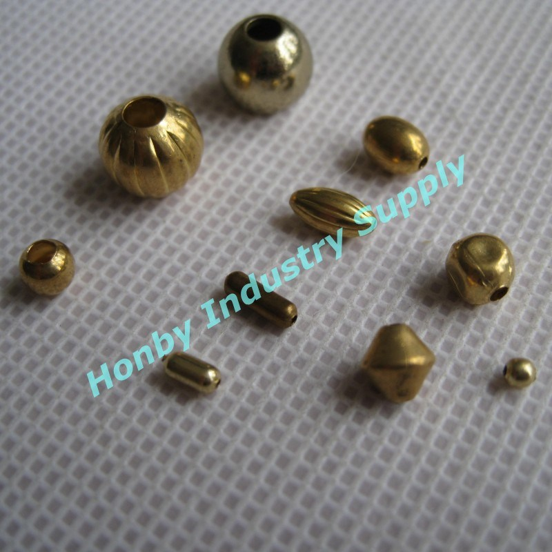 china various shape colored spacer hollow metal bead