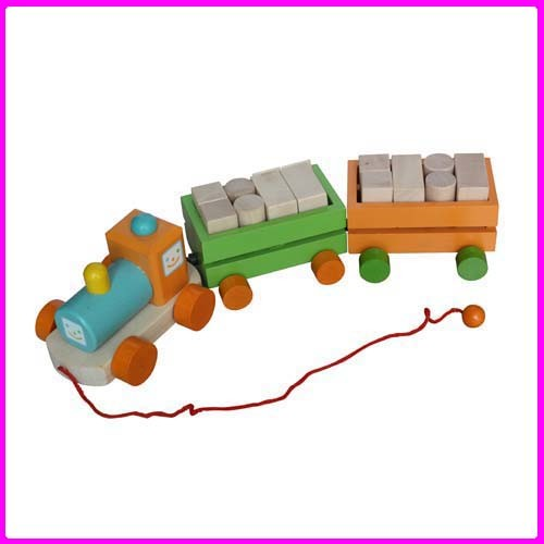 Push And Pull Toys : China wooden pull toy wj