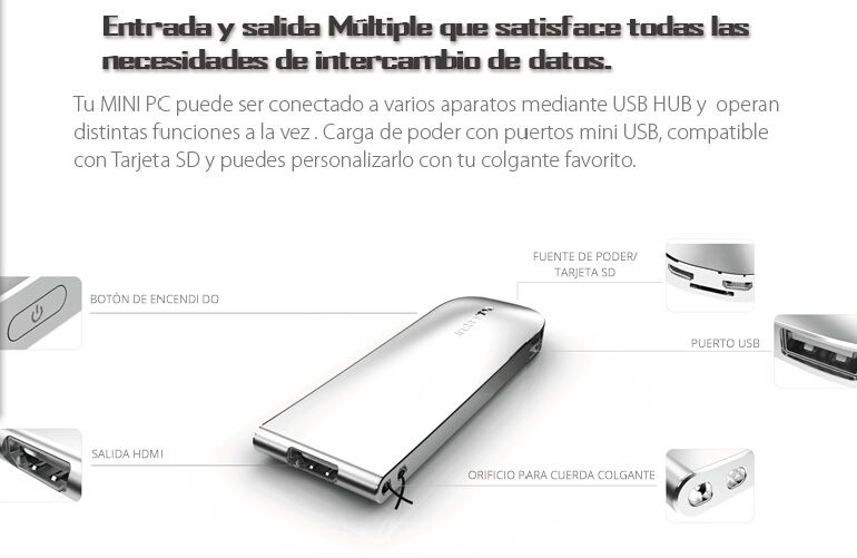 HD 1080P Output 2GB Intel Mini PC