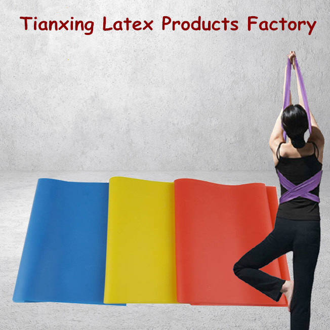 Latex Fitness Stretch Resistance Band Power Flat Yoga Belt