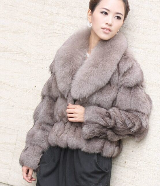 Real Fox Fur Overcoat for Women