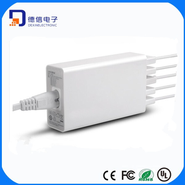 5 Ports USB AC Adapter Multi-Function (LCK-5B25)