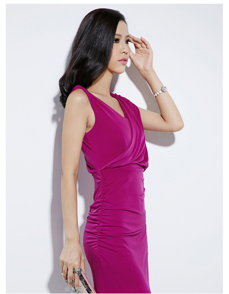 2016 Newest Fashion Rose Color Party Women Dress