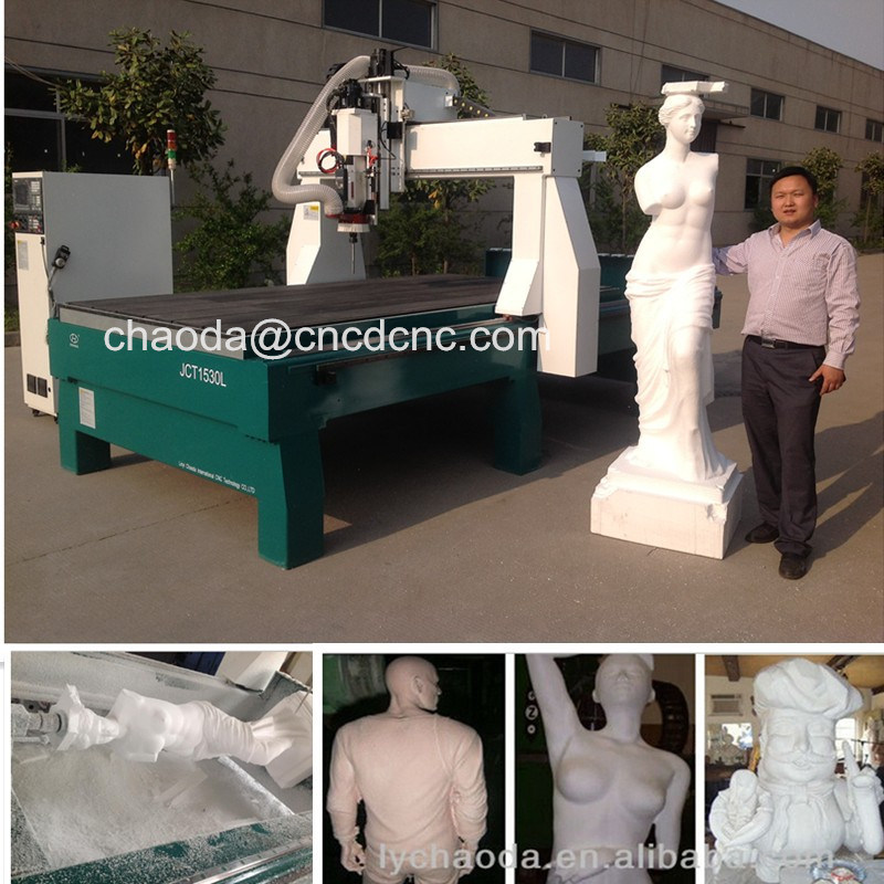 3D Sculptures CNC Router, 4 Axis CNC Router Engraver Machine