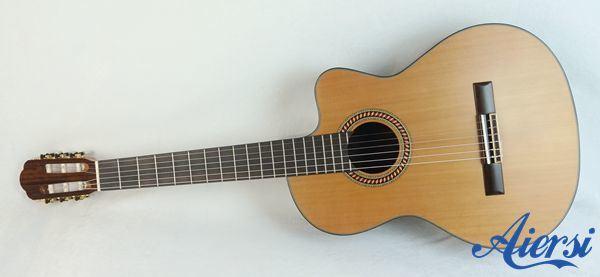 Handmade Cutway Shape Nylon String Classic Electrical Guitar