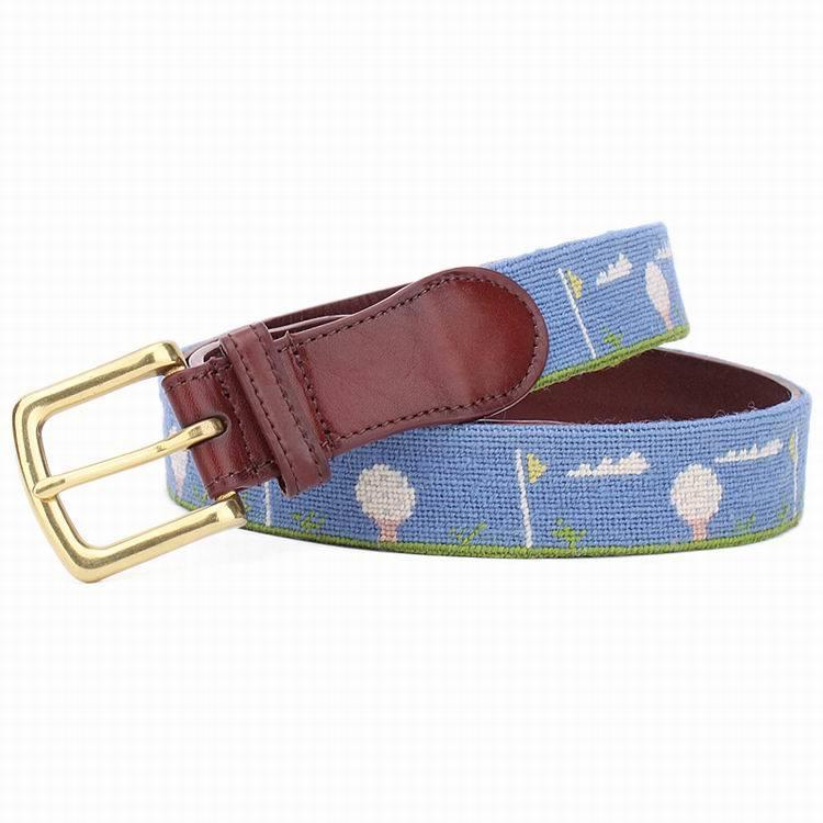 Fashion Handmade Needle Point Golf Belt (SR-131246D)