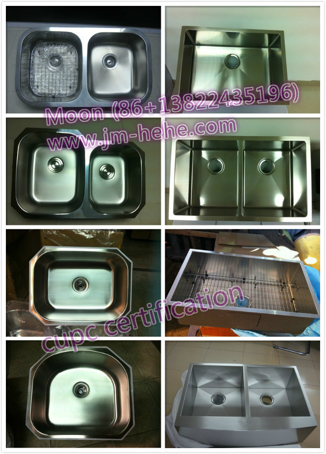 304 Stainless Steel Undermount Single Sink for Kitchen with Cupc Certificate
