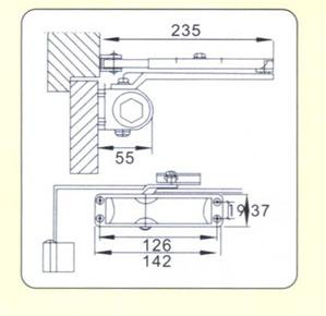 Safety Popular Designs Aluminium Alloy Door Closer (DS-038F)
