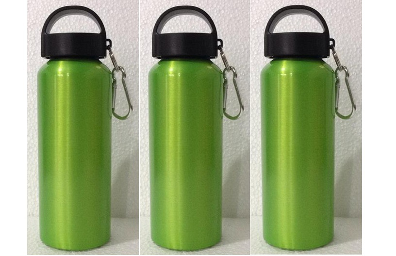600ml Various Sizes Food Grade BPA Free Water Bottle, Portable Metal Bottle With Carabiner