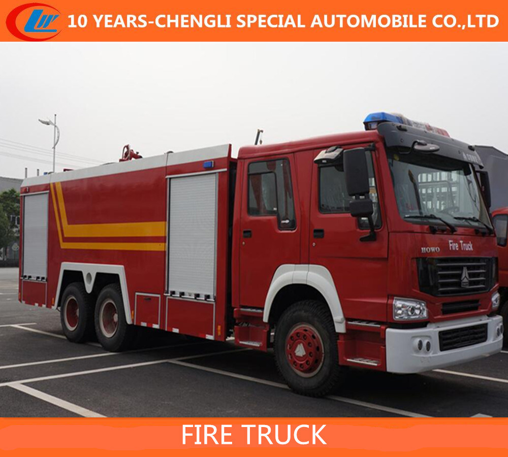 HOWO 6X4 10 Cbm Foam Fire Truck / HOWO 3axles Fire Truck