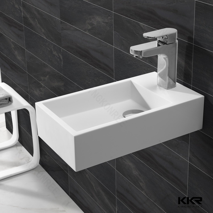 Italian Style Solid Surface Floor Standing Bathroom Sinks