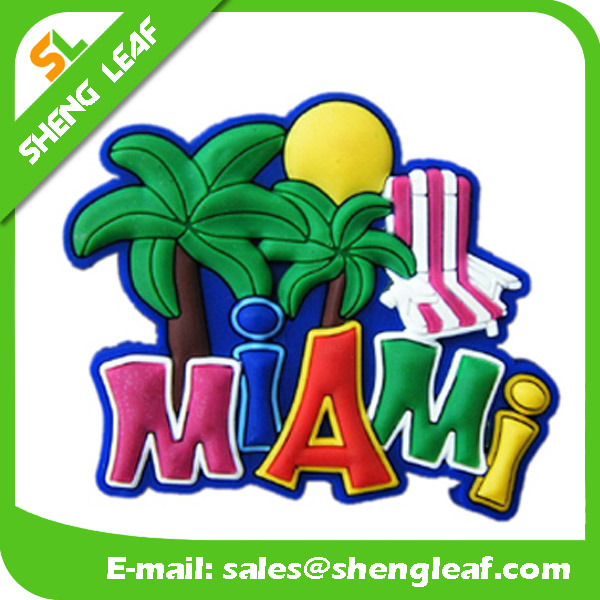 Custom Logo Advertising Promotion Gifts 2D 3D Soft PVC Fridge Magnet