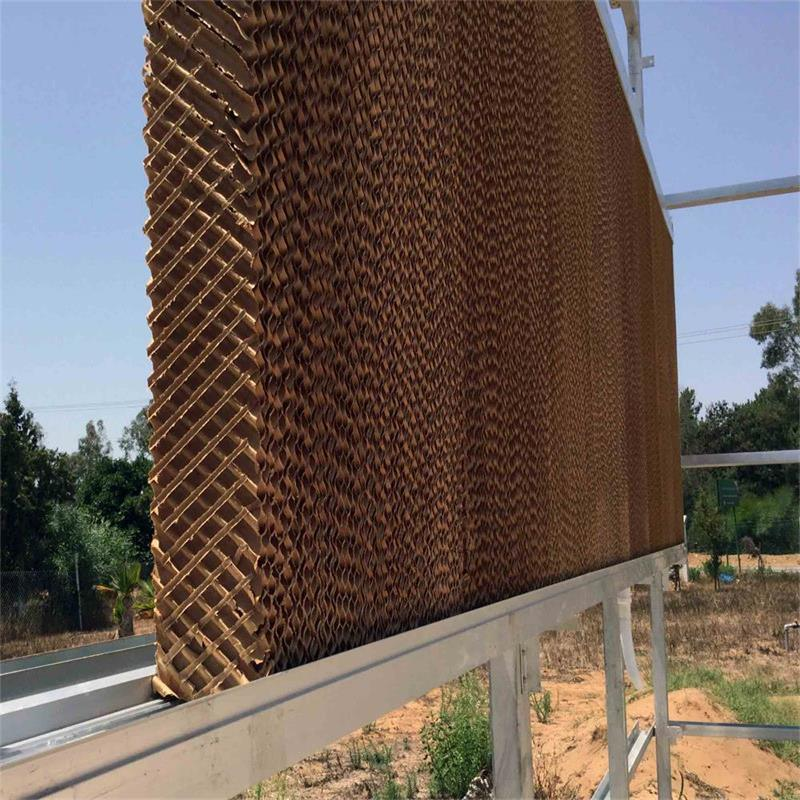 Agricultural Evaporative Cooling Pad for Air Cooling System in Greenhouse