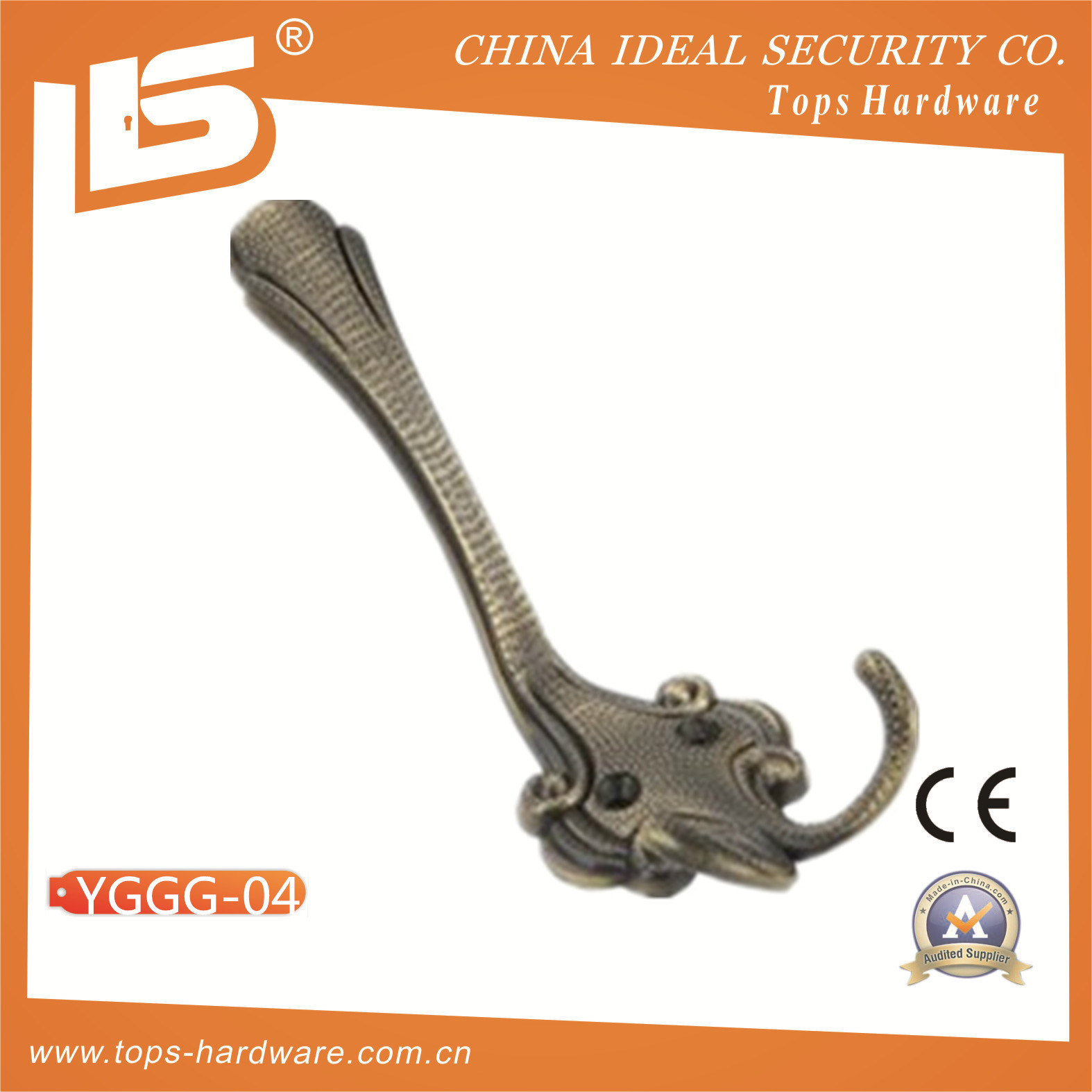 China High Quality Towel Hook Over Cabinet Hook (YGGG-04) Photos ...