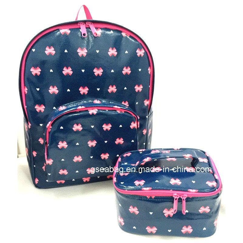 Fashion 2PCS Set Bag for School Laptop Sports Hiking Travel Business Backpack (GB#20065)