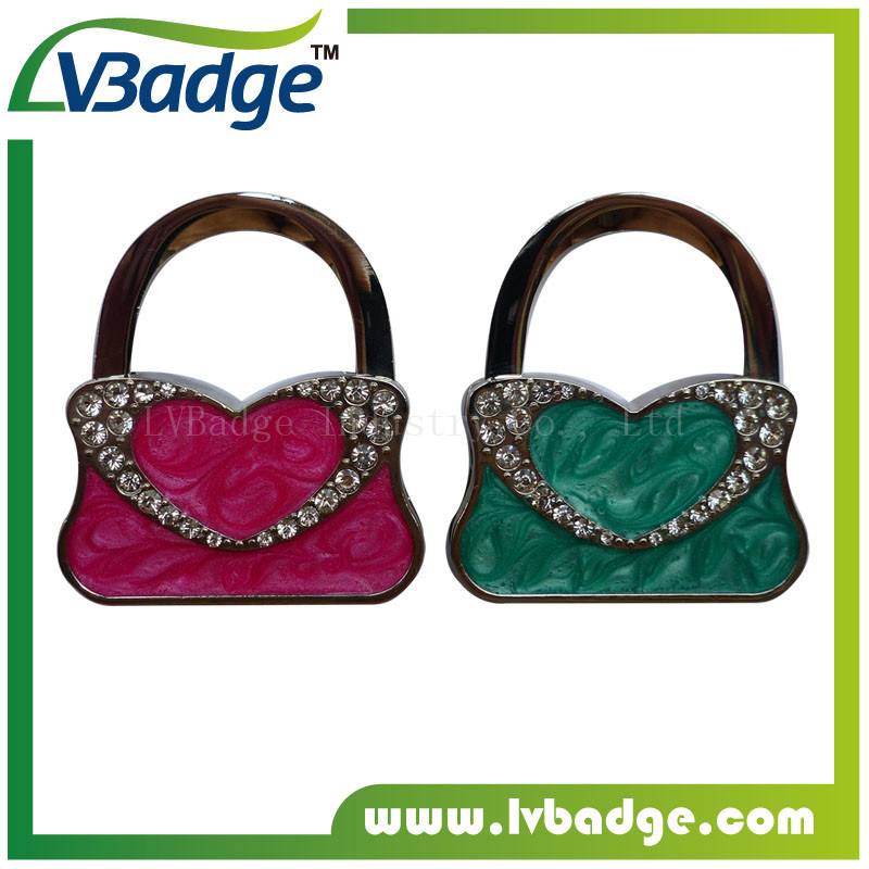 Promotion Lady Women Foldable Metal Bag Hanger