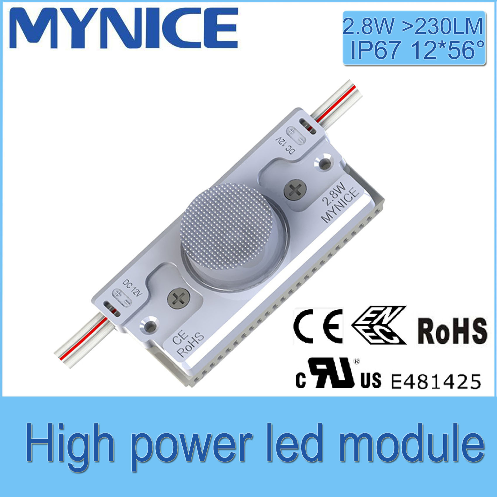 2.8W LED Injection Module with Lens for Double-Sided Light Box 5years Warranty