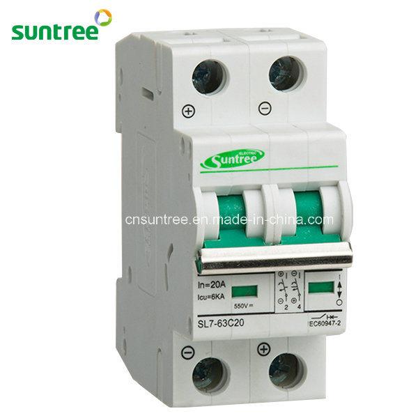 2 Pole DC550V Solar Mini Circuit Breaker