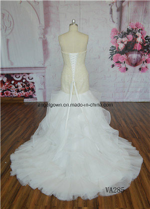 Sweetheart Heavy Beading Ivory Memaid Bridal Gown Wedding Dress Gown