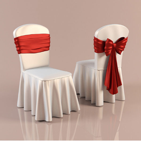 Restaurant Chair Cover with Ruffled (DPFR80134)