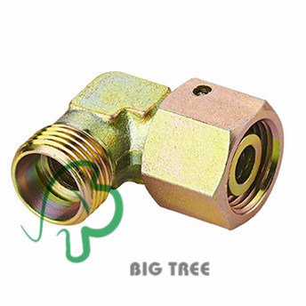 90 Degree Elbow Reducer Tube Hydraulic Adaptor with Swivel Nut