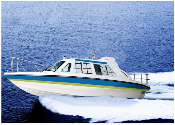 9.2 Meters Cabin Patrol Fiberglass Boat