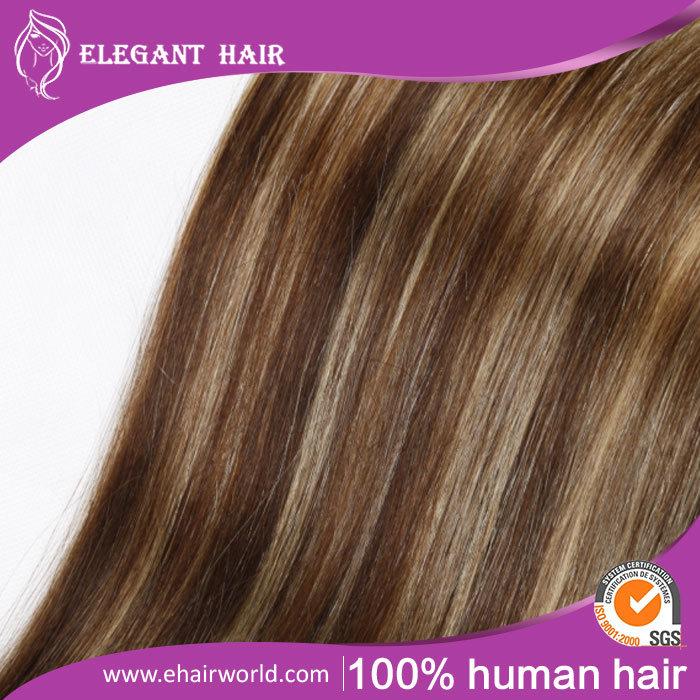 "European Remy Hair Clip-in Hair Extensions 20"" 8PCS Set"