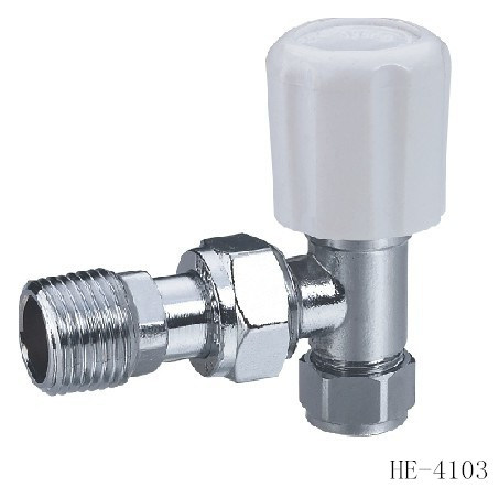 (HE4103--HE4104) Radiator Valve with Zinc, Aluminum or Plastic Handle for Water