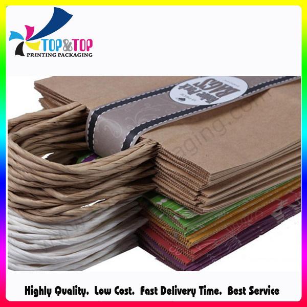 Handle Sealing Paper Material Kraft Paper Shopping Bag