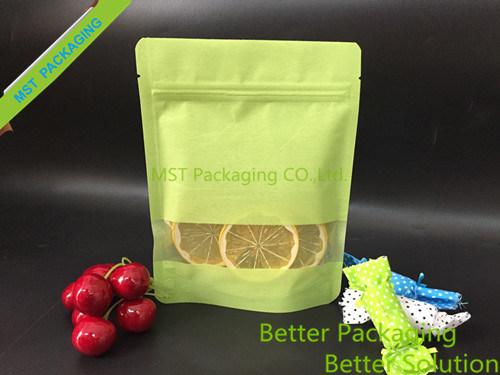 Window Rice Paper Bag/ Zipper Stand up Bag