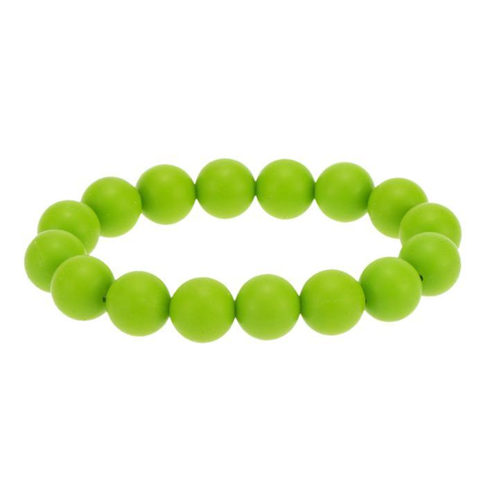 Teething Teether Loop Bracelet Bangle Silicone Soft Beads for Chew Baby