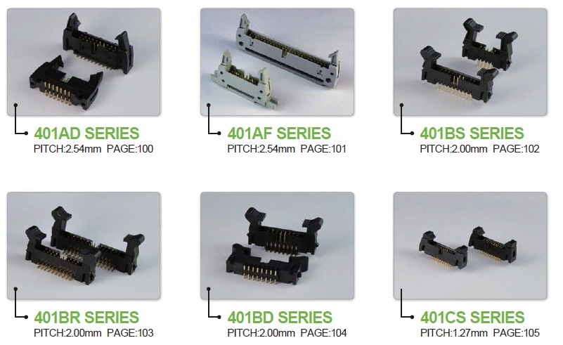 Electronic Connectors - Flat Cable &Box Header Connectors