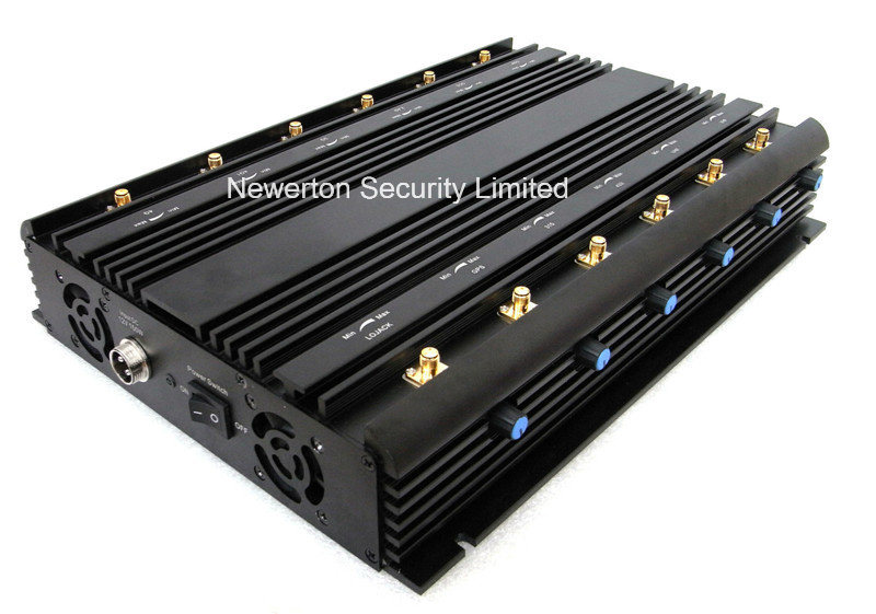 Universal 12 Antennas Adjustable WiFi GPS VHF UHF Lojack 2g 3G 4G All Bands Signal Jammer Blocker
