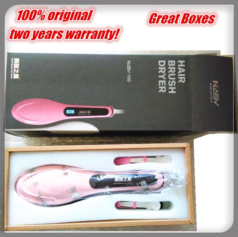 100% Original Nasv-100 Hair Straightener Brush 2016 New Hot! LCD Display Electric Straight Hair Comb Straightening