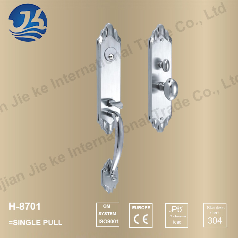 Stainless Steel Single Pull Door Lock for Villas (H-8701 Single)