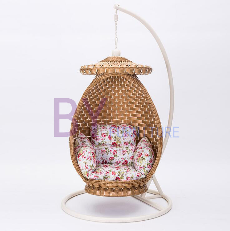 by-485 Indoor Balcony Pure Weaving Leisure Rattan Nest Swing