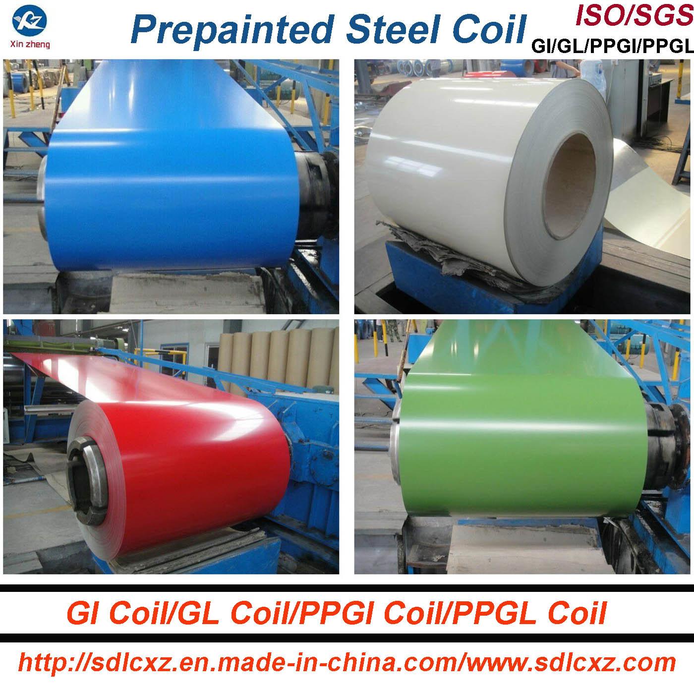 Prepainted Galvanized Steel Coil / PPGI for Roofing Sheet