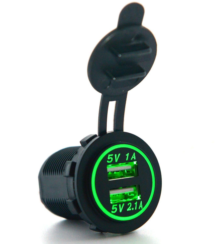Cigarette Lighter Socket Splitter 12V Dual 2 Port USB Car Charger Power Adaptor Mobile Phone Accessories