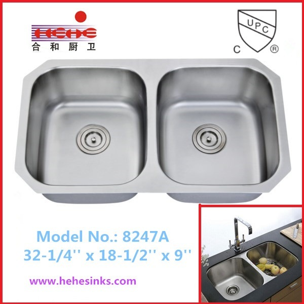 Hot Sell 50/50 Double Bowl Kitchen Sink (8247)
