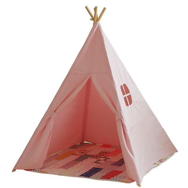 Foursquare Pink Teepee Indoor Camping Tent (MW6021)